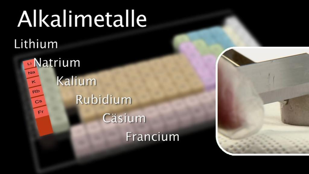 Lehrfilm Alkalimetalle Inklusive Gehörlosen Fassung